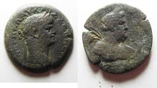 Ancient Coins - EXTREMELY RARE: Egypt. Alexandria under Nero (AD 54-68). AE hemidrachm (30mm, 17.51g). Struck in regnal year10 (AD 63/4).