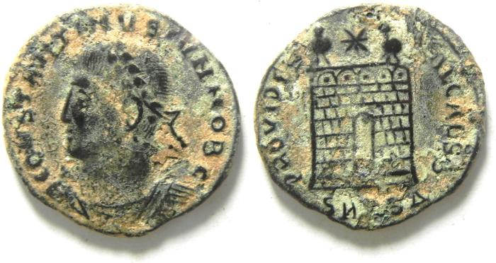 Ancient Coins - CONSTANTINE II AE 3 , NICE AS FOUND