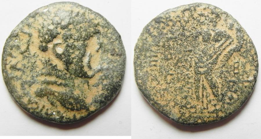 Ancient Coins - JUDAEA. HERODIAN DYNASTY. AGRIPPA II UNDER VESPASIAN. AE 26