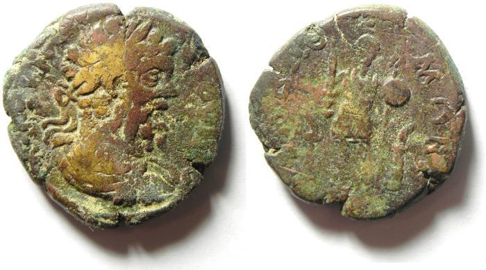 Ancient Coins - ARABIA , RABBATH MOBA , SEPTIMIUS SEVERUS ,  HIGH QUALITY AE 27
