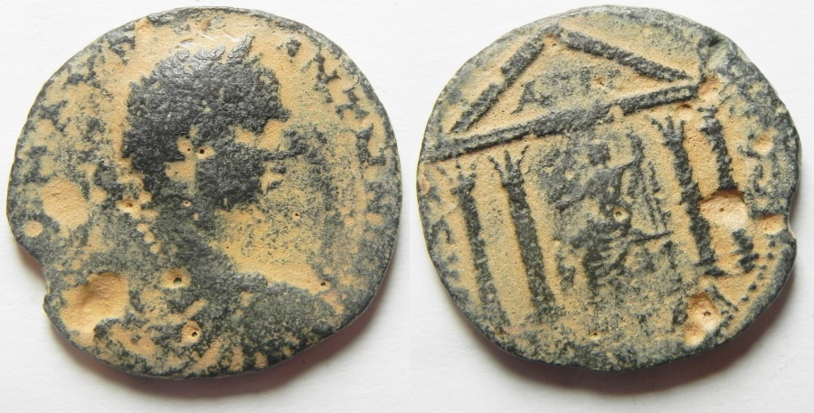 Ancient Coins - Decapolis. Gadara under Elagabalus (AD 218-222). AE 27 mm, 8.95g. Struck in civic year 281 (AD 217/18).