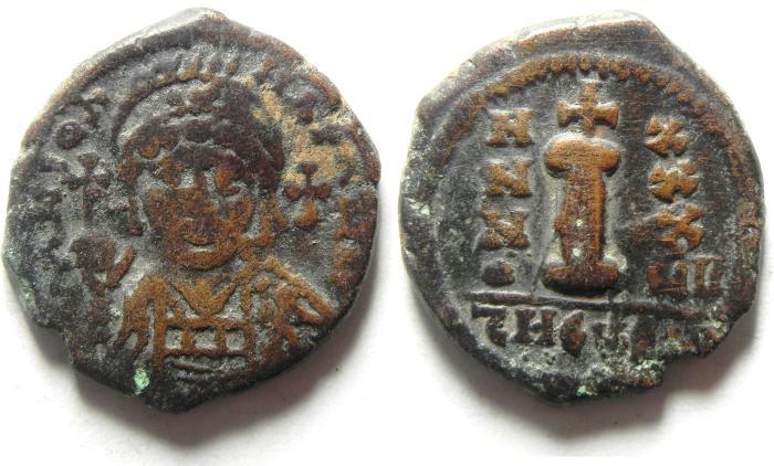 Ancient Coins - JUSINTIAN I AE DECANUMMIUM