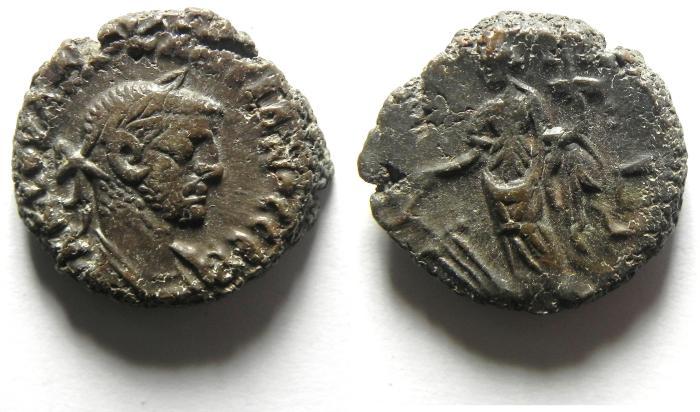 Ancient Coins - EGYPT , ALEXANDRIA , POTIN TETRADRACHM , DIOCLETIAN , NICE QUALITY