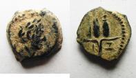 Ancient Coins - EGYPT. ALEXANDRIA. BEAUTIFUL AS FOUND. TRAJAN AE DICHALKON