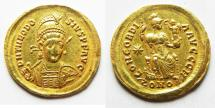 Ancient Coins - ROMAN IMPERIAL. Theodosius II (AD 409-420). AV solidus (21mm, 4.47g). Constantinople mint.