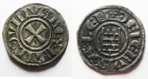World Coins - CHOICE QUALITY. DAVID'S TOWER: Crusaders, Latin Kingdom of Jerusalem. Baldwin III (1143-1163). BI Denier
