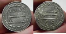 World Coins - ISLAMIC. ABBASID SILVER DERHIM. MADINAT ALSALAM. 174 A.H