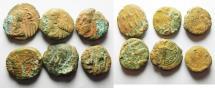 Ancient Coins - PERSIA. LOT OF 6 ELYMAIS AE DRACHMS
