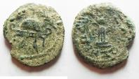 Ancient Coins - AS FOUND: JUDAEA. HEROD I THE GREAT 8 PRUTOT COIN