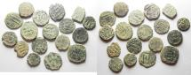 Ancient Coins - LOT OF 18 ISLAMIC AE FALS COINS. AS FOUND