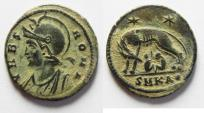 Ancient Coins - CONSTANTINE I AE 3 . COMMEMORATIVE ISSUE WITH Romulus and Remus & SHE-WOLF.