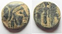 Ancient Coins - NABATAEAN KINGDOM. ARETAS II. DAMASCUS MINT. AE 16
