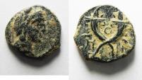 Ancient Coins - NABATAEAN KINGDOM. ARETAS IV AE 14