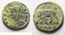 Ancient Coins - NICE AS FOUND COMMEMORATIVE AE 3 OF CONSTANTINE I