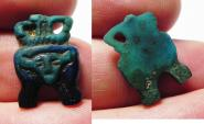 Ancient Coins - Ancient Egypt. Amarna Period, Time of King Tutankhamun . Faience Pendant Of Hathur. 1334 - 1325 B.C