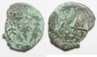 Ancient Coins - BARBAROUS IMITATION: Judaea. Herodian dynasty. Herod Archelaus (4 BC-AD 6). AE PRUTAH