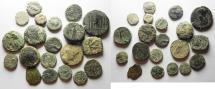 Ancient Coins - LOT OF 20 MIXED ANCIENT COINS FROM THE HOLY LAND. AS FOUND