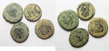 Ancient Coins - LOT OF 4 ROMAN AE COINS. AS FOUND