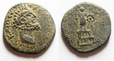 Ancient Coins - CHOICE FOR THE TYPE: DECAPOLIS. ARABIA. RABBATHMOBA. SEPTIMIUS SEVERUS AE 26