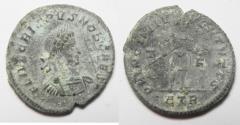 Ancient Coins - CRISPUS AE FOLLIS. AS FOUND. RARE!