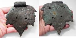 Ancient Coins - ANCIENT JUDAEA ROMAN BRONZE VINE LEAF. 100 - 200 A.D