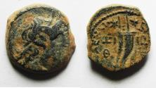Ancient Coins - PTOLEMAIC KINGS of EGYPT. Ptolemy IX Soter II. 115-104/1 BC. Æ 17mm. Kyrene mint.