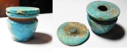 Ancient Coins - ANCIENT EGYPT, FAIENCE KUHL VESSEL. NEW KINGDOM.   1400 B.C
