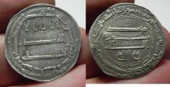 Ancient Coins - ISLAMIC. ABBASID SILVER DERHIM. MADINAT ALSALAM. 174 A.H