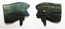 Ancient Coins - ANCIENT EGYPT , NEW KINGDOM FAIENCE EYE OF HORUS. 1400 B.C