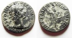 Ancient Coins - Domitian. AD 81-96. AR Denarius . Rome mint. Struck AD 92–93.