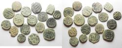 Ancient Coins - LOT OF 18 ISLAMIC AE FALS COINS. AS FOUND