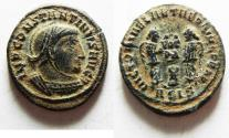 Ancient Coins - DESERT PATINA. HIGH QUALITY. CONSTANTINE I AE FOLLIS