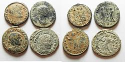 Ancient Coins - ORIGINAL DESERT PATINA. LOT OF 4 ROMAN AE COINS