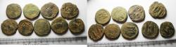 Ancient Coins - LOT OF 9 BYZANTINE AE FOLLIS COINS