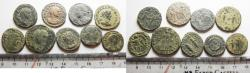 Ancient Coins - LOT OF 9 ANCIENT ROMAN BRONZE COINS