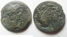 Ancient Coins - Egypt. Alexandria under Augustus (27 BC-AD 14). AE diobol (24mm , 10.50g). Struck in regnal year 41 (AD 10/11).