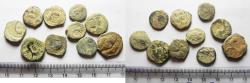 Ancient Coins - AS FOUND: LOT OF 10 NABATAEAN BRONZE COINS