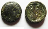 Ancient Coins - KYRENAICA, Kyrene. Circa 308-277 BC. AE 20MM