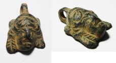 Ancient Coins - ANCIENT ROMAN OR NABATAEAN BRONZE MEDUSA PENDANT. 200 - 300 A.D