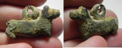 Ancient Coins - ANCIENT HOLY LAND. BRONZE DOG SHAPED PENDANT. 1400 B.C