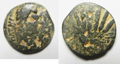 Ancient Coins - EGYPT. ALEXANDRIA UNDER AUGUSTUS (27 BC-AD 14). AE DIOBOL (25MM , 9.39G). CORN BUNDLE
