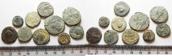 Ancient Coins - ORIGINAL DESERT PATINA. LOT OF 10 ROMAN AE COINS