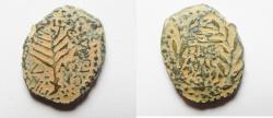 Ancient Coins - Be-Header of John The Baptist: JUDAEA, Herodians. Herod III Antipas. 4 BCE-39 CE. Æ Unit (20mm, 5.50 g). Tiberias mint.