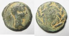 Ancient Coins - Augustus, AE diobol. Alexandria, Egypt. Year 41, 11-12 AD.