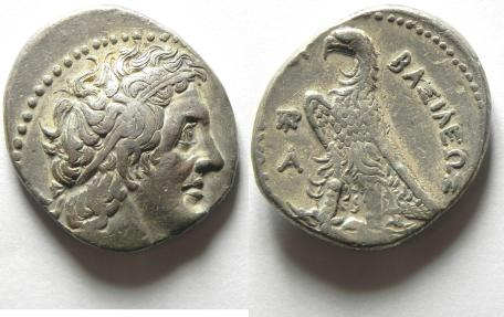 Ancient Coins - Ptolemic Kingdom. Ptolemy I. 305-282 B.C , AR TETRADRACHM , ALEXANDRIA MINT. CHOICE QUALITY!!!!!!!