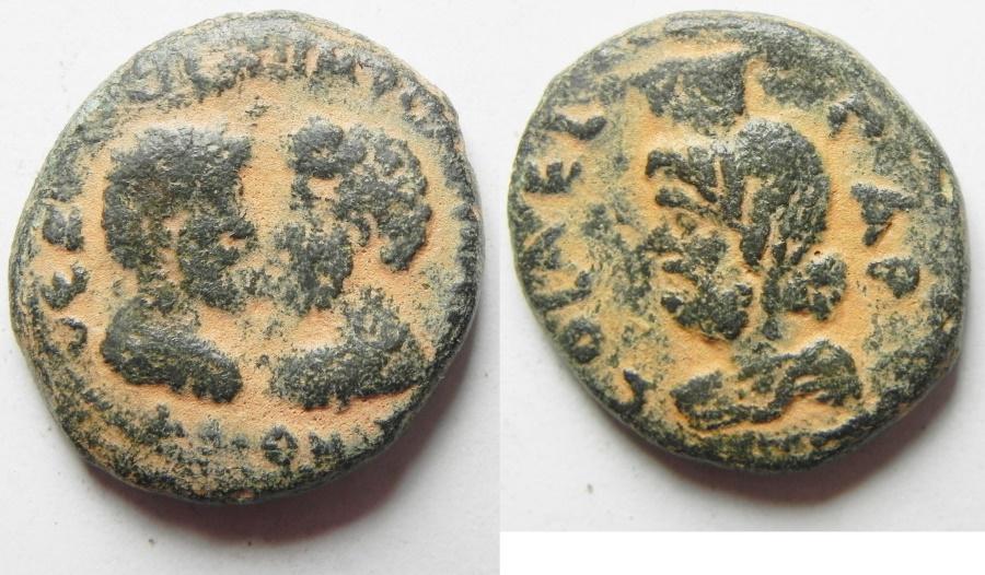 Ancient Coins - JUDAEA. AELIA CAPITOLINA . Marcus Aurelius & Lucius Verus, 161-180 AD AE 23