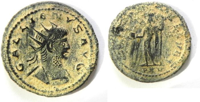 Ancient Coins - GALLIENUS ANTONINIANUS, BEAUTIFULL DESERT PATINA!!!! AS FOUND