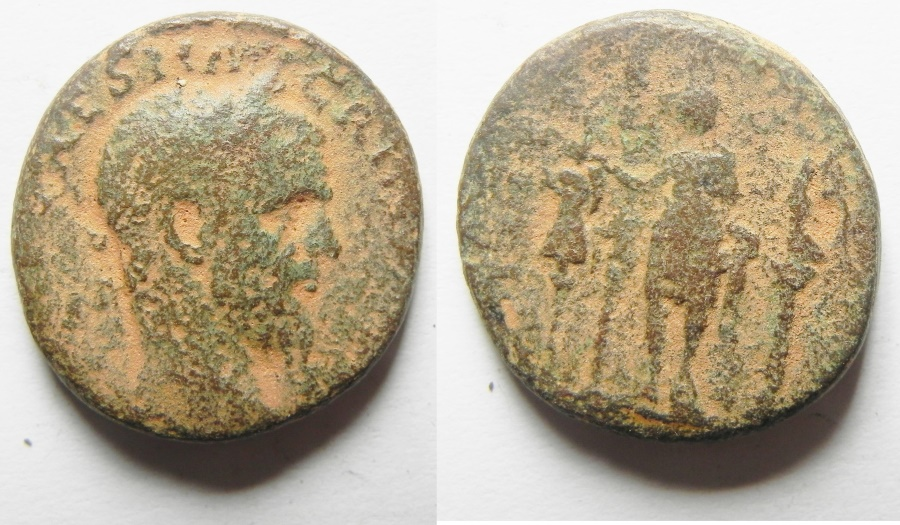 Ancient Coins - PHOENICIA. TYRE. MACRINUS AE 25
