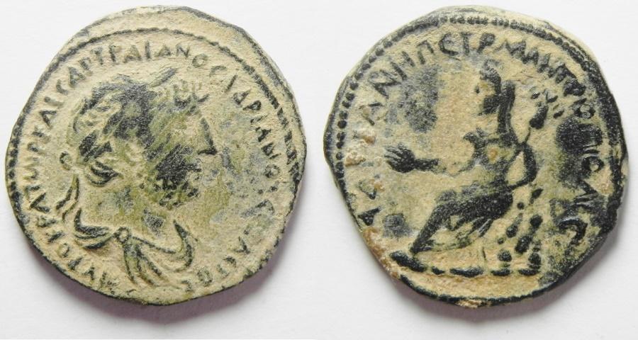 Ancient Coins - Arabia. Petra. Hadrian AE 25. 117-138 AD. Beautiful Original Desert Patina