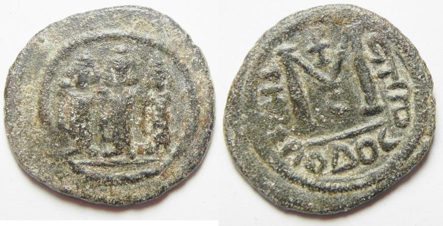 World Coins - ARAB-BYZANTINE. TIBERIAS MINT AE FALS